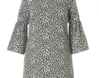 Leopard dress blue maat 44