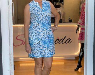 Angelle milan jurk -Blauw