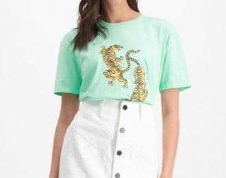 Leopard t-shirt groen